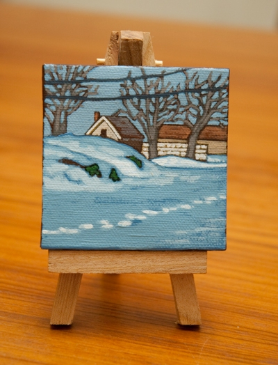 Snowed In - Tiny Painting