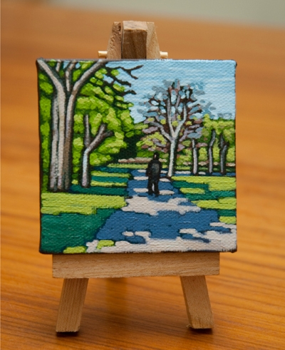 Walk in the Park - Tiny Painting