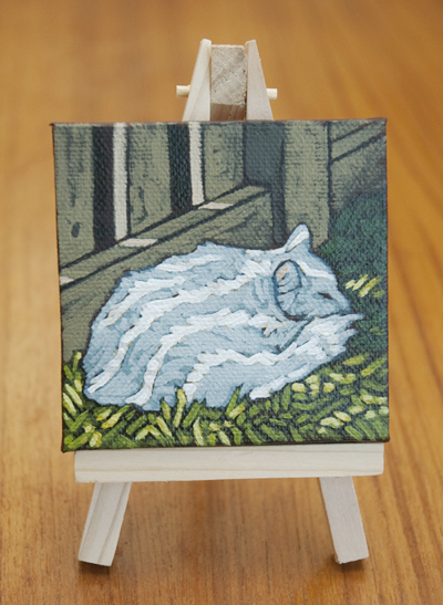 Cat Nap Acrylic Painting