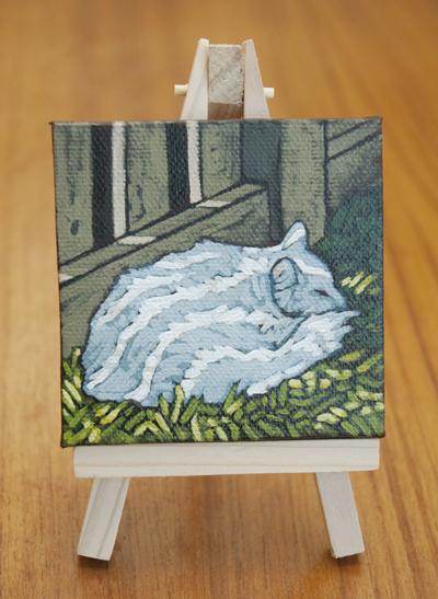 Cat Nap Acrylic Painting